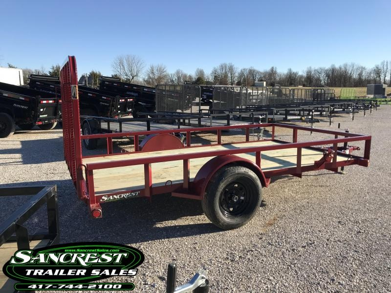 2019 Load Trail 77X12 Utility Trailer W/4' GATE SPRING ASSIST SPARE TIRE MOUNT