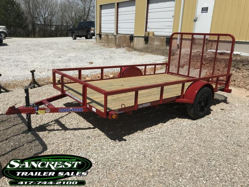 2018 Load Trail 77x12 Utility Trailer (Red)