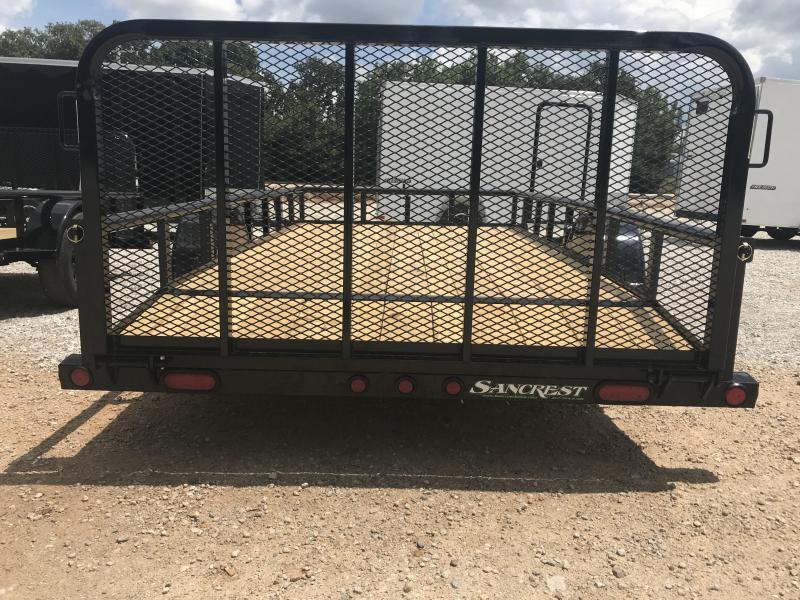 2019 Load Trail 77X14 PIPE TOP Utility Trailer W/2' DOVE/3' GATE