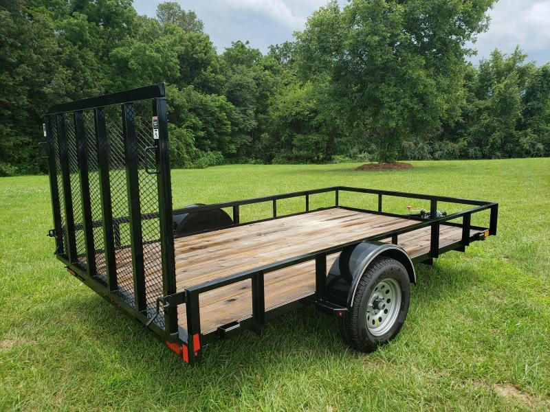 2018 LAMAR 83 X 12 UTILITY TRAILER W/ 4FT SPRING GATE