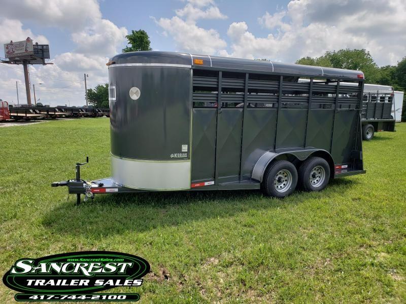 2018 Kodiak Livestock Trailer 16 X 6 Bumper Pull