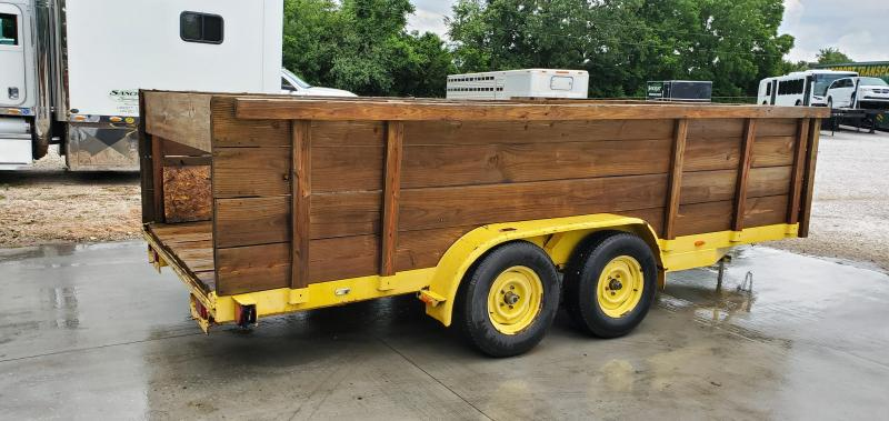 **DEBRIS HAULER**2013 HMDE 83X18 TANDEM 7K YELLOW EQUIPMENT W/4' WOOD SIDES & ALL NEW 10 PLY TIRES