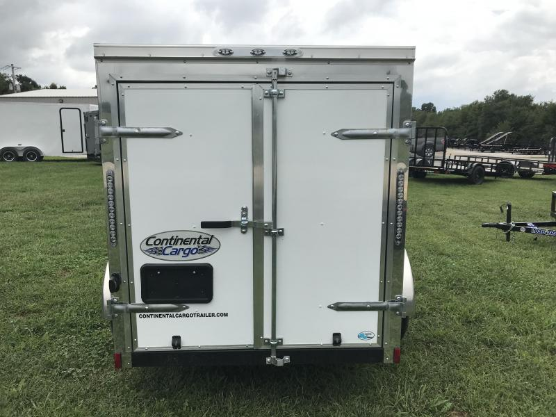 2019 Continental Cargo 5X8 Enclosed Cargo Trailer W/ side and barn rear doors