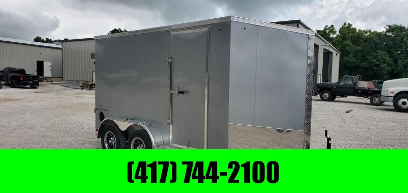 "2020 IMPACT 7X12 TANDEM 7K SLANT NOSE SILVER TREMOR W/6'6"" HEIGHT in Ashburn, VA"