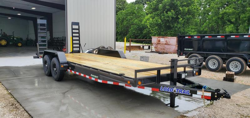 2019 Load Trail 83X22(20+2) TANDEM 14K EQUIPMENT TRAILER W/ FLIP UP RAMPS