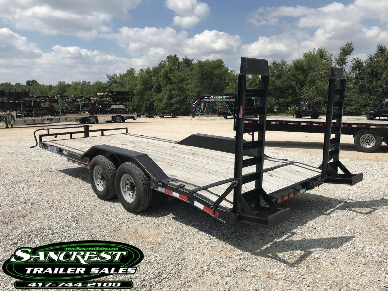 2016 Load Trail 102X20 EQUIPMENT Trailer W/FLIP OVER RAMPS AND DRIVE OVER FENDERS