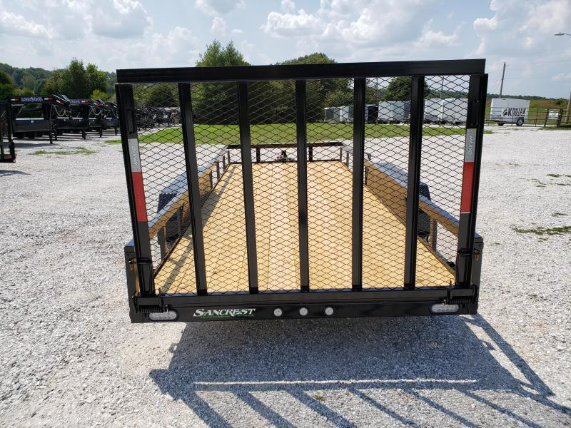 2020 MAXXD 77X18 TANDEM 7K MAXXD WET BLACK UTILITY W/4' SPRING GATE
