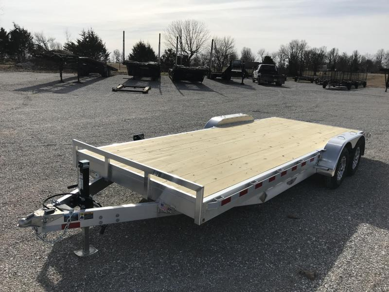 2019 H&H 82X20 ALUMINUM CAR HAULER W/5200 AXLES AND 2' DOVETAIL