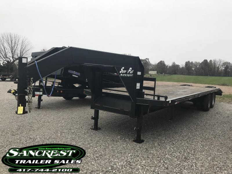 2013 Sure Pull Trailers 102X30 GOOSENECK  Trailer W/10 AXLES FLIP RAMPS AND 4 NEW TIRES(OTHER 4 NEWER CONDITION)