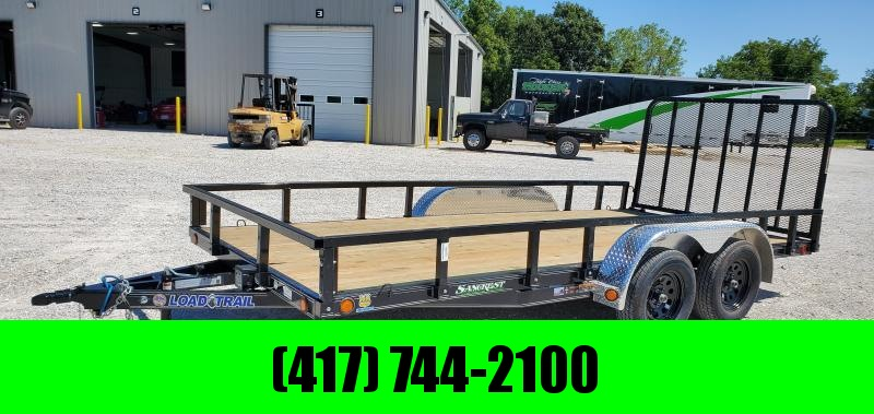 2019 Load Trail 83X16 TANDEM 7K UTILITY W/REMOVABLE TUBE TOP RAILING  ALUM. FENDERS &  4' TUBE GATE