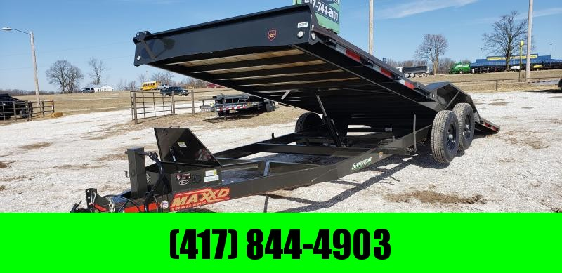 2019 MAXXD 102X24 POWER TILT EQUIPMENT HAULER W/7K AXLES DRIVEOVER FENDERS
