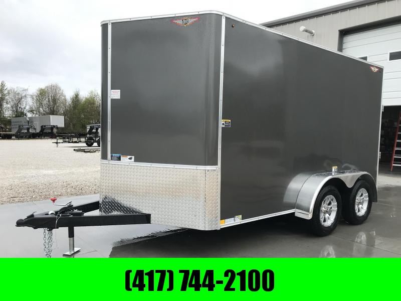 "2019 H&H 7X12 TANDEM CHARCOAL METALLIC 7K CARGO W/6'6"" HEIGHT"