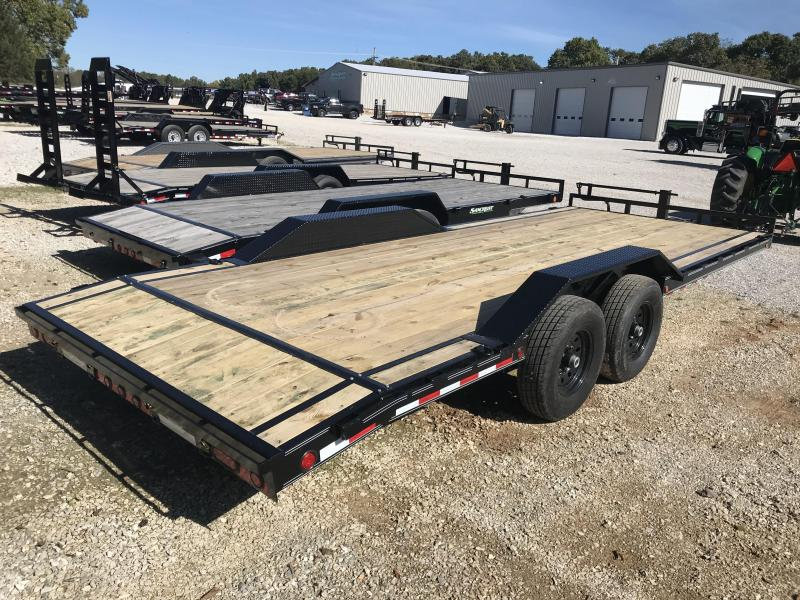 2019 Load Trail 102X22 CAR HAULER Trailer W/7K AXLES AND SPARE TIRE MOUNT