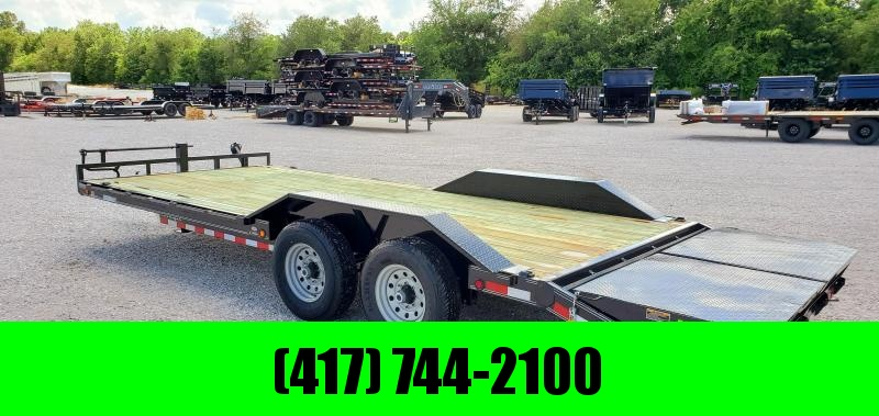 2019 LOAD TRAIL 102X22(19+3) TANDEM 14K EQUIPMENT TRAILER W/ MINI MAX RAMPS in Omaha, AR