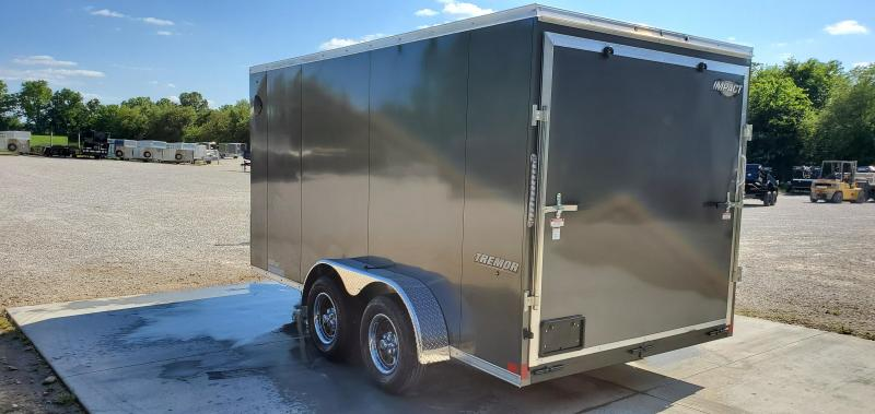 "2020 Impact 7X14 TANDEM 7K CHARCOAL SLANT NOSE CARGO W/6'6"" HEIGHT"