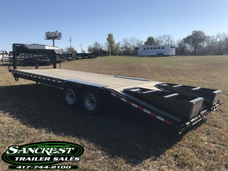 2018 TRL 102x25 gooseneck Equipment Trailer w/7K AXLES/5 FT. DOVETAIL AND FLIP RAMPS