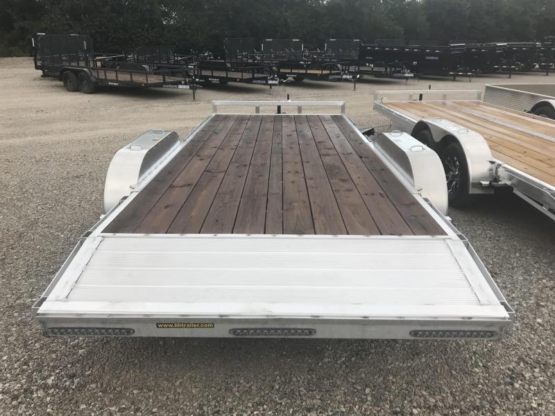 2018 H and H Trailer 82X18 CAR HAULER W/3500# AXLES AND SPARE TIRE MOUNT