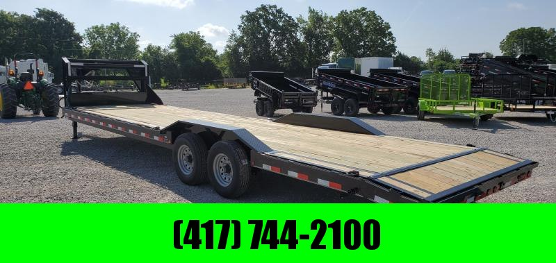 2019 LOAD TRAIL 102X32(30+2) TANDEM 14K GOOSENECK CAR HAULER W/SLIDE-IN RAMPS & DRIVE-OVER FENDERS