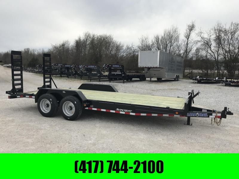 2019 LOAD TRAIL 83X20(20+2) TANDEM EQUIPMENT TRAILER W/8K AXLES 17.5'S 16 PLY TIRES FLIP UP RAMPS