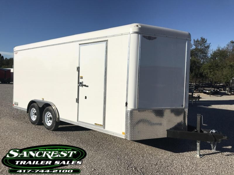 2019 H and H Trailer 8x18 7' HEIGHT Topline series Enclosed Cargo Trailer w/.40 exterior
