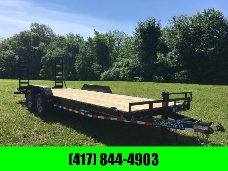 2019 Load Trail 83x22 BLACK Equipment Trailer w/7k axles and flip ramps in Omaha, AR