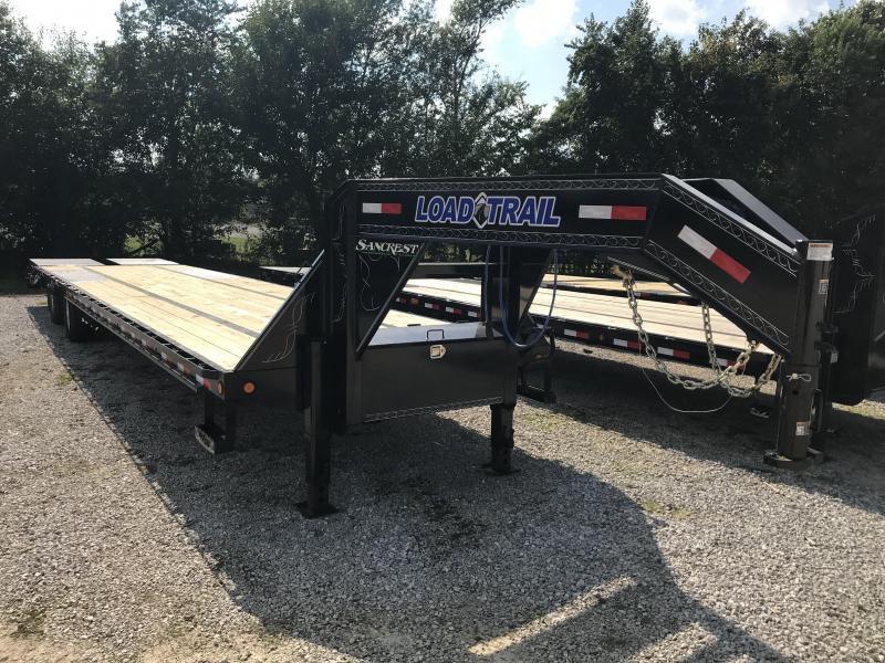 2019 Load Trail 102X40 GOOSENECK Equipment Trailer W/DISC BRAKES/12K AXLES/MAX RAMPS/ADJ. RATCHET RAIL
