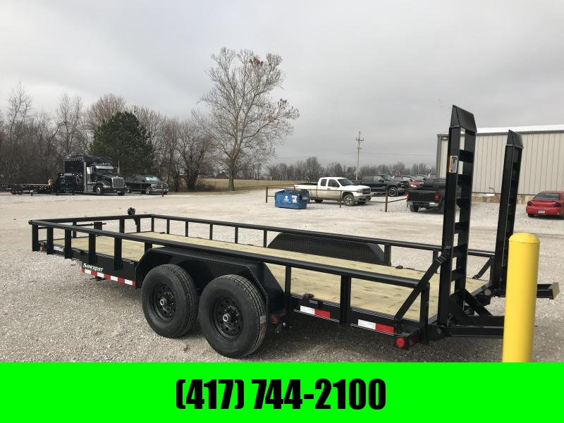 2019 Load Trail 83x20 CAR HAULER Equipment Trailer W/7K AXLES AND RAILING in Gamaliel, AR