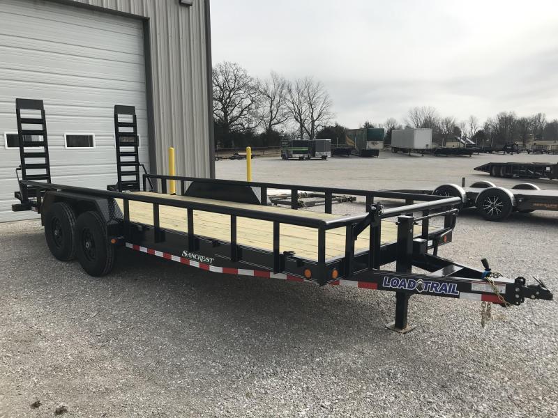 2019 Load Trail 83x20 CAR HAULER Equipment Trailer W/7K AXLES AND RAILING