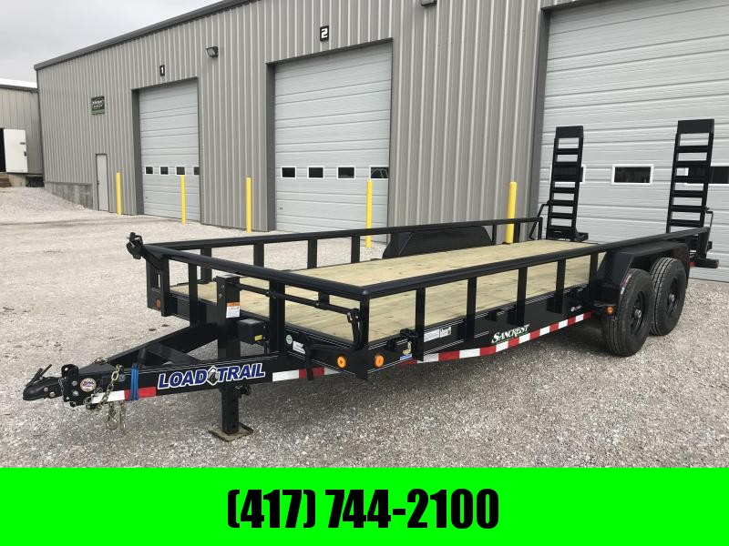 2019 Load Trail 83x20 CAR HAULER Equipment Trailer W/7K AXLES AND RAILING