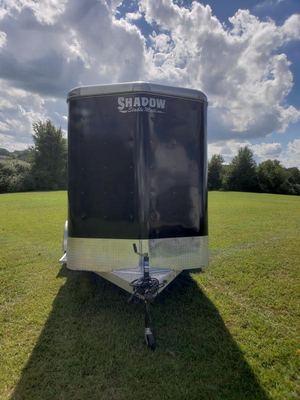 2016 SHADOW STABLE MATE 2 HORSE SLANT (USED TWICE)