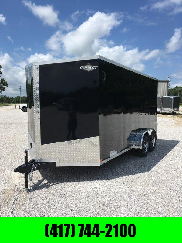 2020 Impact 7X16 TANDEM 7K BLACK CARGO W/7'HEIGHT