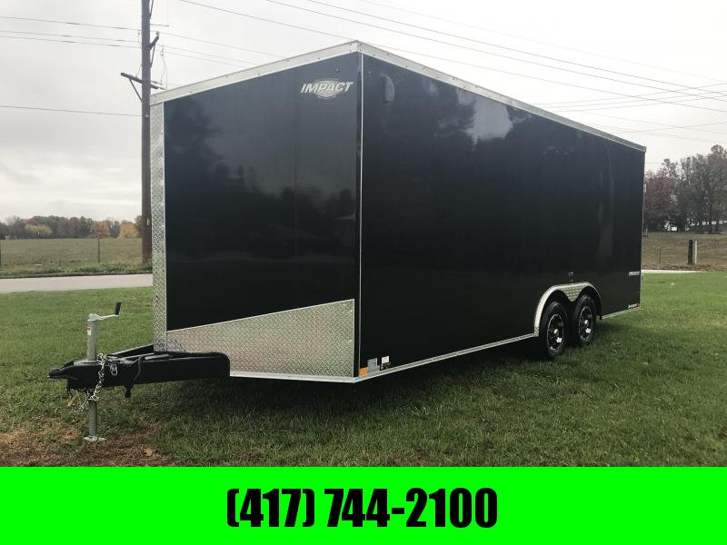 2019 Impact Trailers 8.5x20 Enclosed Cargo Trailer w/5200# axles/v-nose w/slant