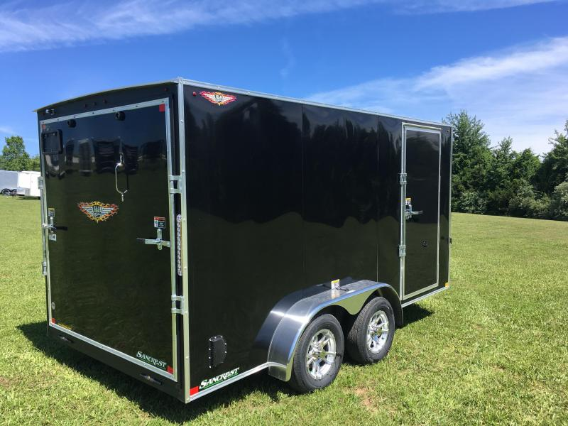 "2019 H AND H 7 X 14 TANDEM BLACK CARGO W/6'6""HEIGHT"