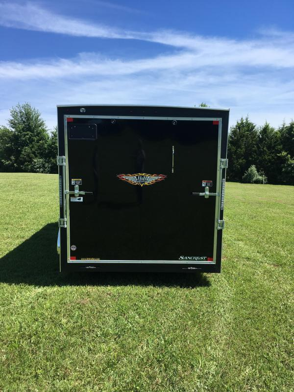 """2019 H AND H 7 X 14 TANDEM BLACK CARGO W/6'6""""HEIGHT"""