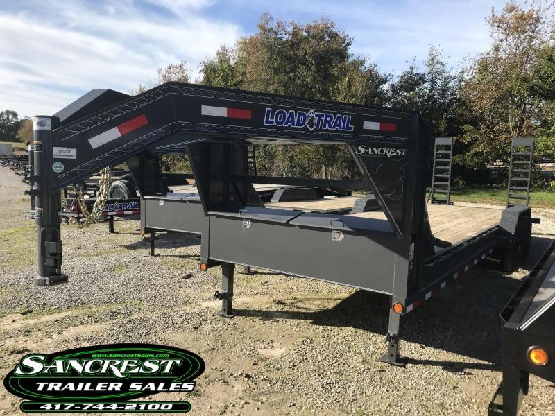 2019 Load Trail 83x24 Gooseneck Equipment Trailer w/7k axles and flip ramps(GRAY)