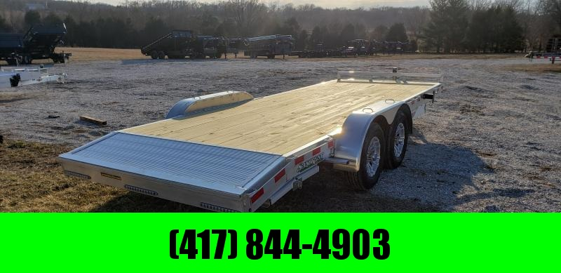 2018 H and H Trailer 82X20 CAR HAULER W/5000# AXLES/ALUM. RIMS AND SPARE TIRE MOUNT
