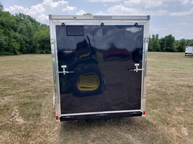 2019 Impact  Cargo Trailer 7 X 16 BLACK