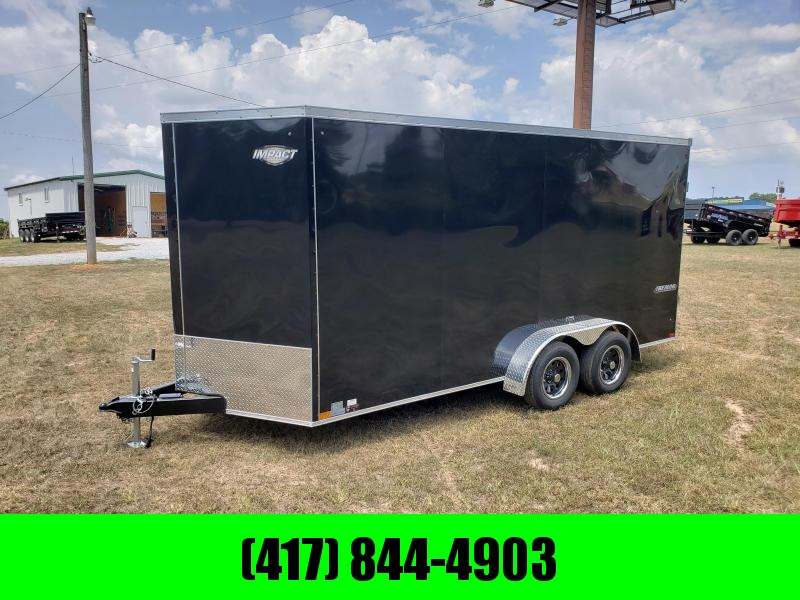 2019 Impact  Cargo Trailer 7 X 16 BLACK in Ashburn, VA