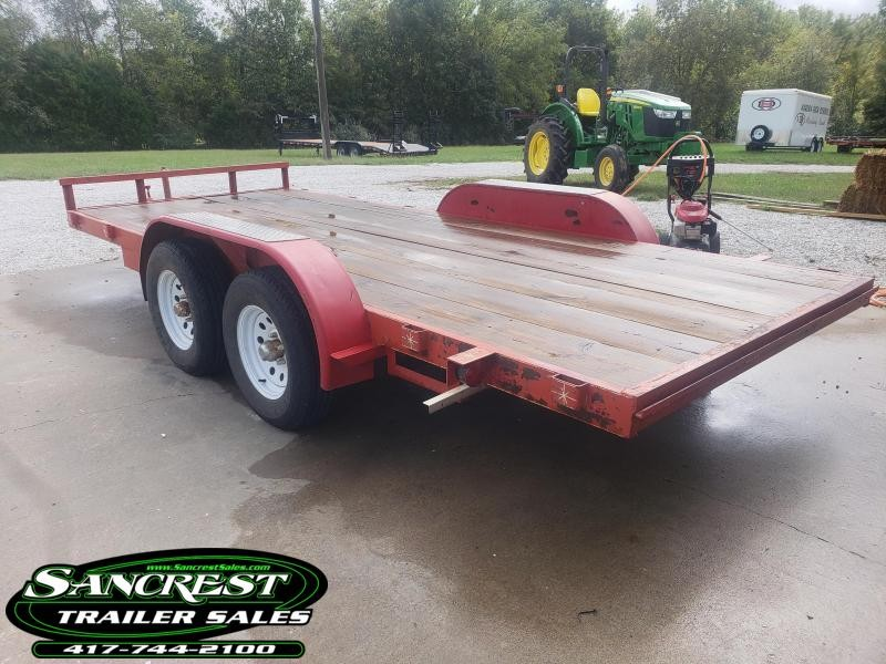 2017 Homemade 77 X 16 HEAVY BUILT Flatbed Trailer W/ Ramps