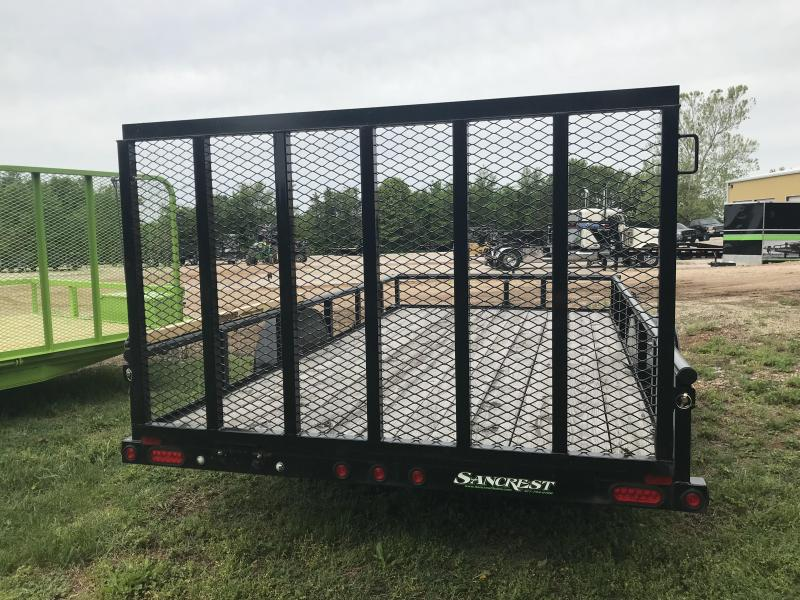 2014 Big Tex Trailers 83X14 Utility Trailer W/SPARE TIRE MOUNT 4' GATE AND GORILLA LIFT