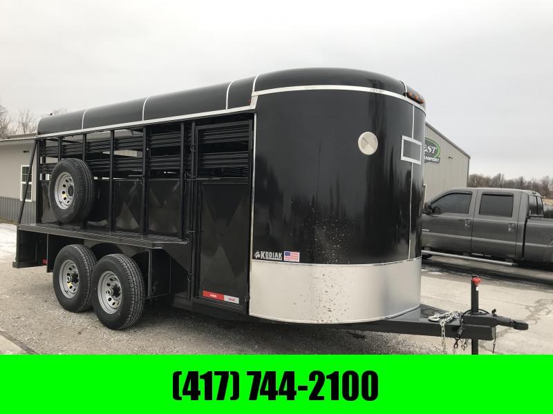 "2019 Kodiak 16X6'8"" BRUSHFENDER BUMPER   Livestock Trailer in Ashburn, VA"