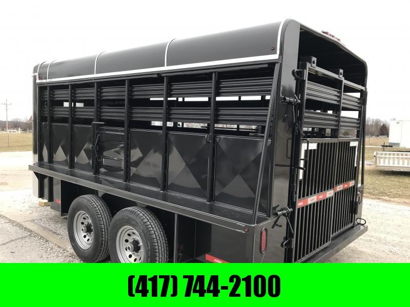 "2019 Kodiak 16X6'8"" BRUSHFENDER BUMPER   Livestock Trailer"