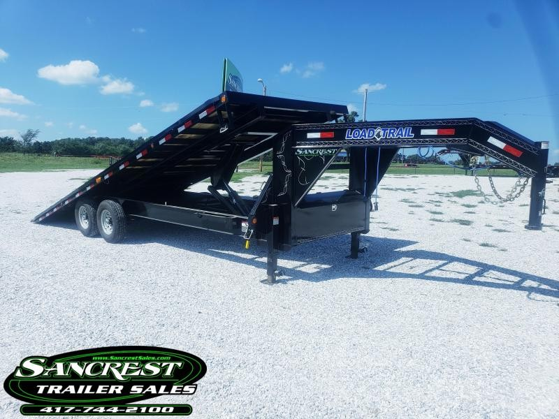 "2018 Load Trail 102"" x 24' Tandem Gooseneck Equipment Tilt Deck"