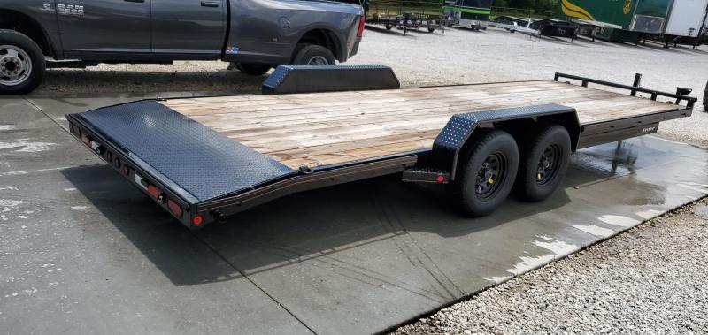 2019 MAXXD 83X24 TANDEM 7K WET BLACK CAR HAULER W/ SLIDE OUT RAMPS