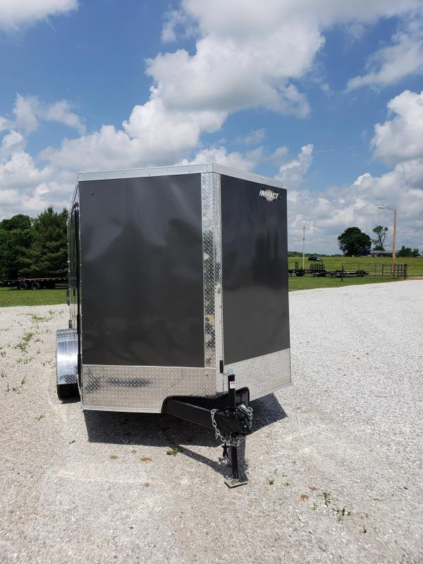 2019 Impact Trailers  Cargo Trailer 7 X12  CHARCOAL