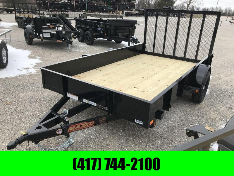 2019 MAXXD 77X12 SOLID SIDE Utility Trailer W/