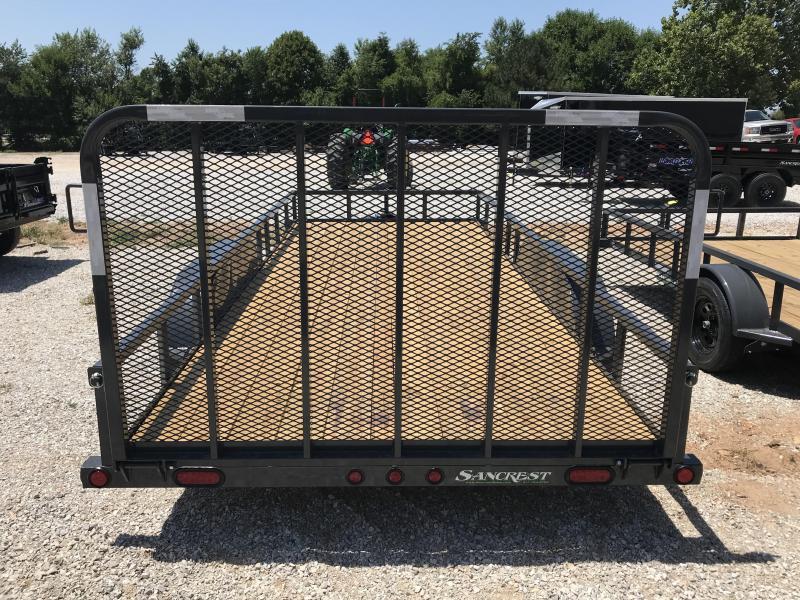 2019 Load Trail 83x18 TANDEM Utility Trailer W/4' TUBE GATE (GRAY)