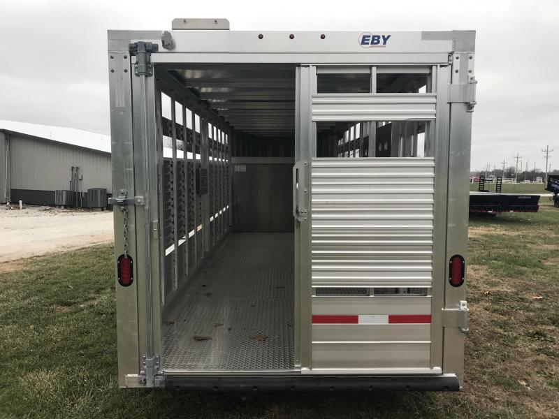 "2019 EBY 20'X6'11""X6'6"" GOOSENECK Livestock Trailer W/7K AXLES"