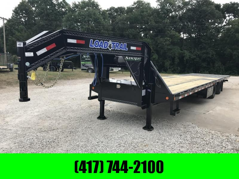2019 Load Trail 102X36 Gooseneck Flatbed Trailer W/HYDRO TAIL/JACKS AND SMITTYBUILT 17500# WINCH