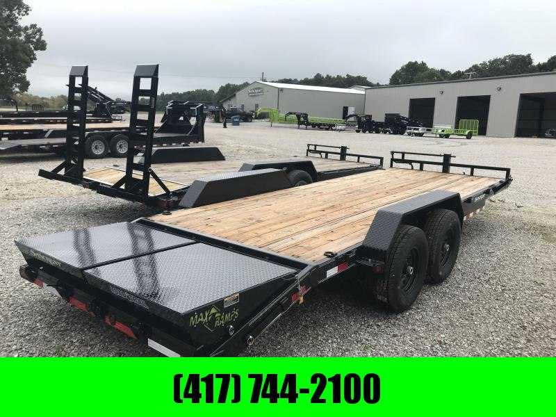 2019 Load Trail 83x22 Equipment Trailer w/max ramps and 7k axles